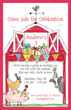 Traditional Barnyard Invitation