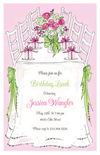 Charming Bouquet Table Invitation