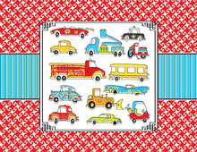 Toys Vehicle Thank You Cards