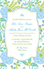Abstract Lotus Invitation
