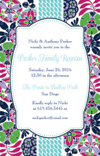 Abstract Flowery Design Invitation