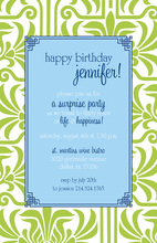 Inspired Green Damask Invitation