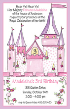 Mega Castle Princess Invitations