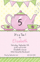 Tea Initial Celebration Invitation
