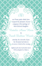 Slightly Teal Invitation