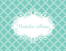Unique Ornate Teal Thank You Cards