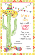 Cactus Tree Shower Invitations