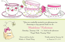 Sugar With Tea Cups Invitation
