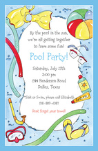 Super Splash Pool Invitations