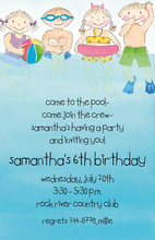 Perfect Summer Kids Swim Party Invitation
