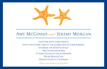 Very Simple Dancing Starfish Charming Bridal Invites