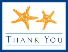 Orange Starfish Thank You Cards