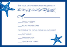 Special Starfish RSVP Cards