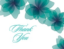 Softly Flower Petals Thank You Cards