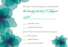 More Flower Petals RSVP Cards