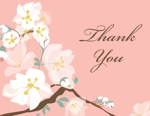 Posy Branch Pink Thank You Cards