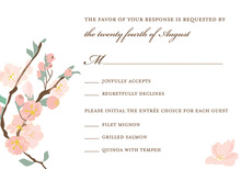 Posy Branch Pink RSVP Cards