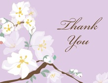 Posy Branch Purple Thank You Cards