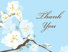 Posy Branch Blue Thank You Cards