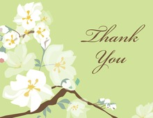 Posy Branch Green Thank You Cards