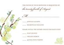 Posy Branch Green RSVP Cards