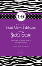 Purple Wild Dots Invitation