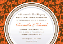 Autumn Rehearsal Dinner Fall Rehearsal Invitations