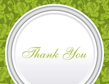 Green Rehearsal Thank You Cards