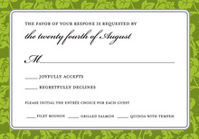 Green Rehearsal RSVP Cards