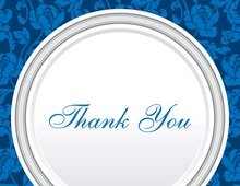 Blue Rehearsal Thank You Cards