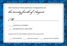 Blue Rehearsal RSVP Cards
