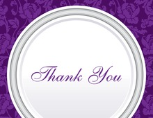 Purple Rehearsal Thank You Cards