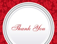 Red Rehearsal Thank You Cards