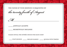 Red Rehearsal RSVP Cards