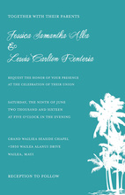 Tropical Silhouette Palm Trees Invitation