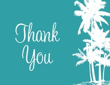 Beach Palms Thank You Cards