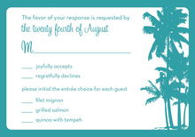 Palm Trees RSVP Cards
