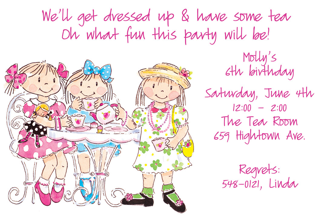 and Butterflies Premium Cardstock Flowers Handmade Birthday Invitation Tea Party Birthday Invitation Girls Party Stacked Teacups