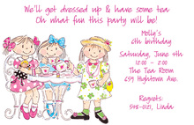 Trendy Girls Tea Party Invitation