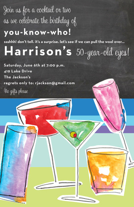 Watercolor Chill Cocktail Invitations