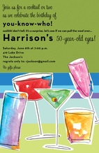 Watercolor Cocktail Drink Invitations