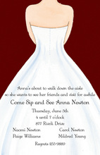 White Wedding Dress Red Invitations