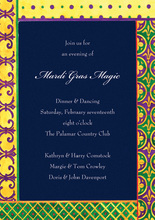 Mardi Gras Border Invitations
