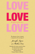 Large LOVE Shower Invitations
