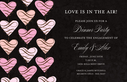 Fascinating Hanging Love Invitations