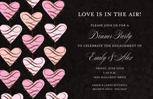 Delicate Hanging Hearts Invitation