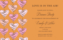 Exquisite Hanging Love Invitations