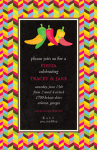 Bright Hot Chili Peppers Invitation