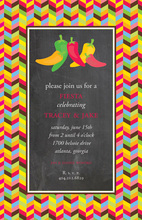 Stunning Hot Chili Peppers Invitation