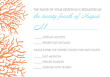 Orange Cream Coral RSVP Cards